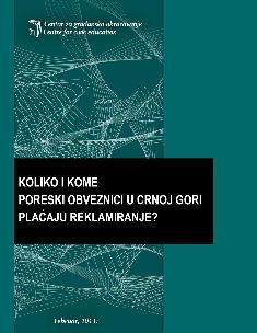 Koliko i kome poreski obveznici u Crnoj Gori plaćaju za reklamiranje? (2011)