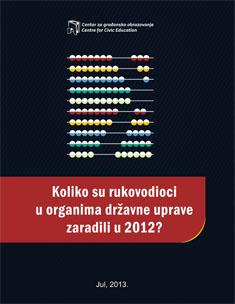 Koliko su rukovodioci u organima državne uprave zaradili u 2012?