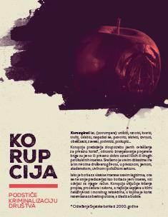 Korupcija podstiče kriminalizaciju društva