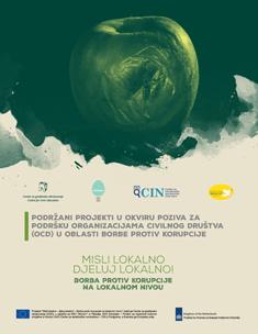 Podržani projekti u okviru poziva za podršku organizacijama civilnog društva (OCD) u oblasti borbe protiv korupcije