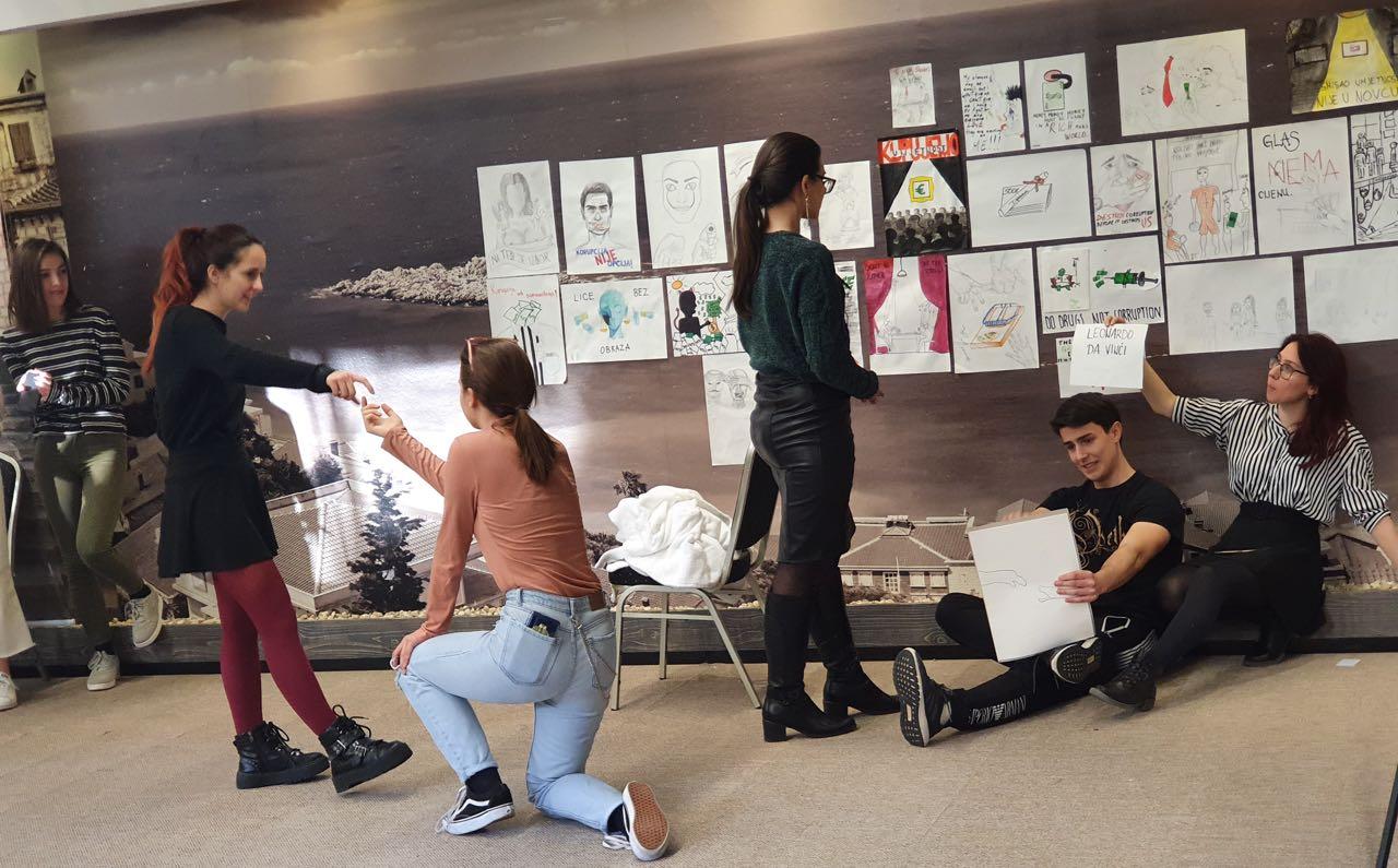 Mladi učili o komuniciranju korupcije kroz umjetnost