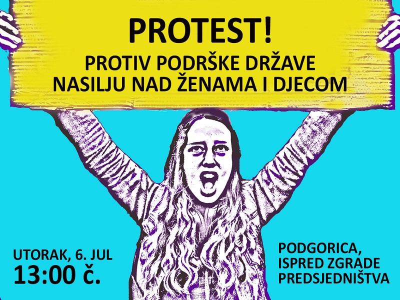Protest zbog podrške države nasilju nad ženama i djecom